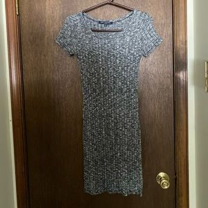 Grey t shirt fitted dress